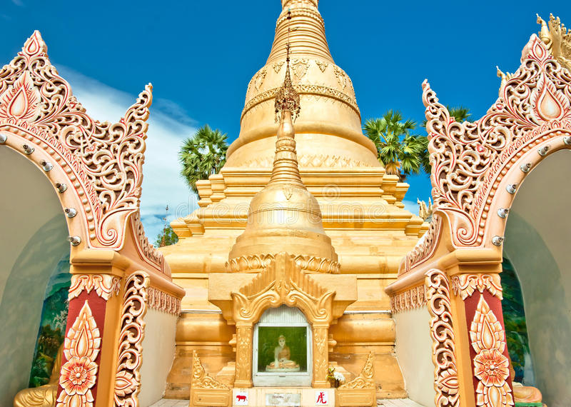 Download Golden buddhist temple stock image. Image of georgetown - 24762857