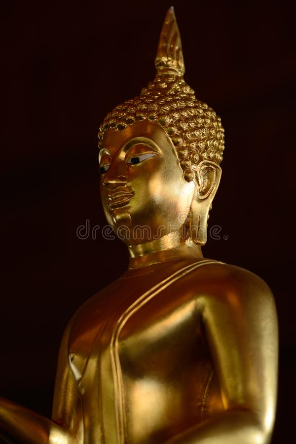 Golden buddish state in the art style as background royalty free stock photo