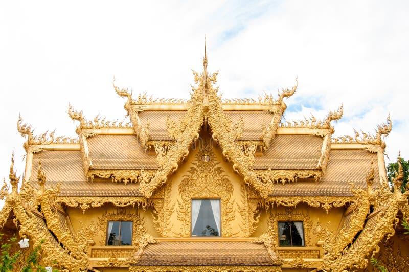 Golden building, Chiangrai, Thailand. stock photo