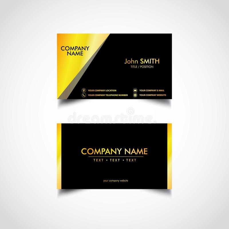 Golden business card template vector eps file stock vector download golden business card template vector eps file stock vector illustration of file cheaphphosting Gallery