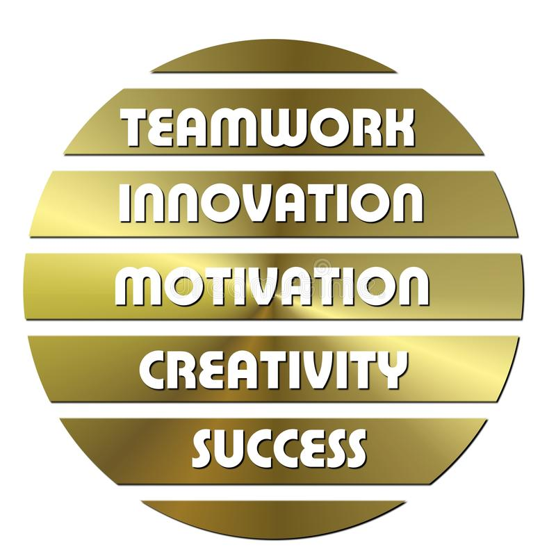 Golden Business Motivation Stock Photo