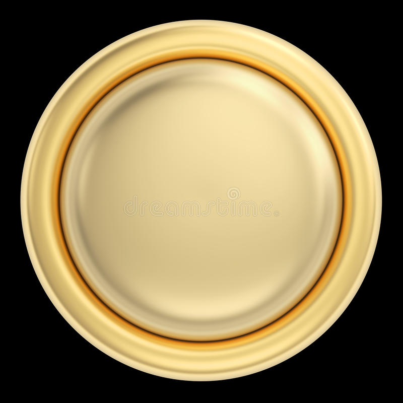 Download Golden Button On Black Stock Images - Image: 32616604