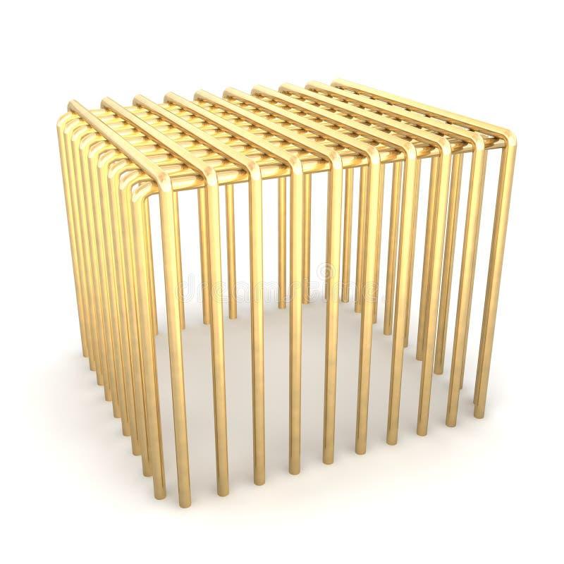 Download Golden cage stock illustration. Image of rendered, golden - 15365800