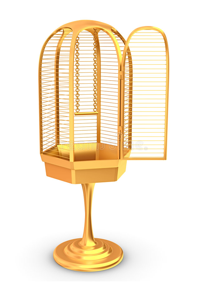 Free Golden Cage Stock Photography - 4082052