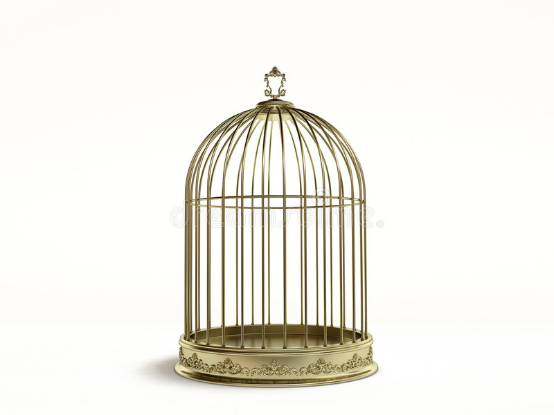 Golden cage stock images