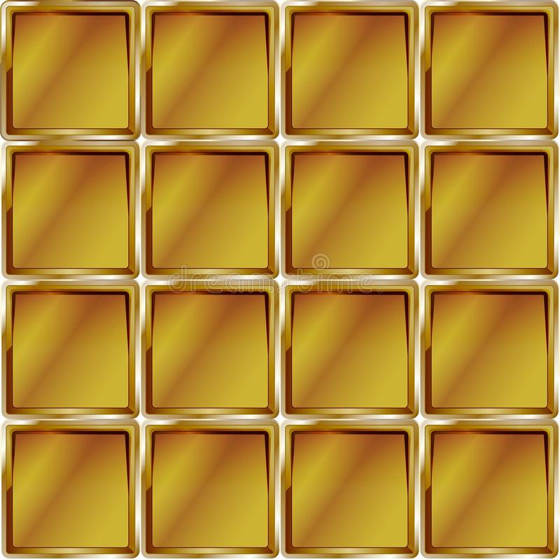 Golden cage abstract yellow pattern design stock illustration