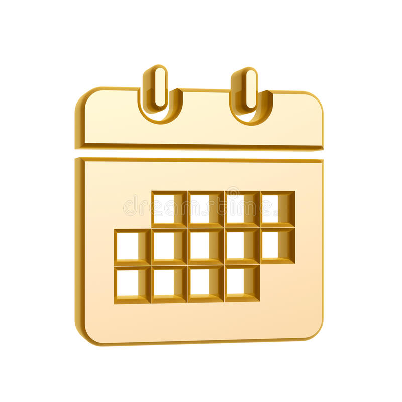 Download Golden Calendar Symbol Royalty Free Stock Photos - Image: 29867148