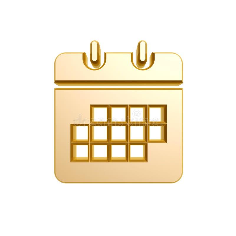 Download Golden calendar symbol stock illustration. Image of isolated - 29867150