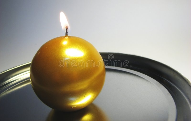 Golden candle 11 stock photos