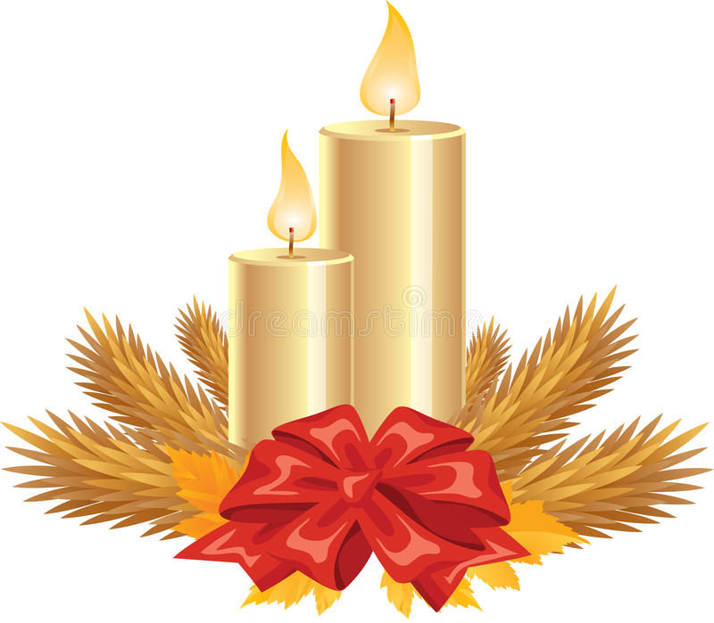 Golden Candles stock images