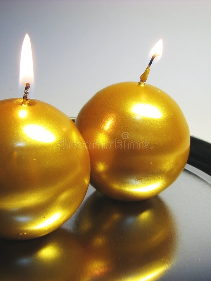 Download Golden candles 3 stock image. Image of bath, house, care - 1732277