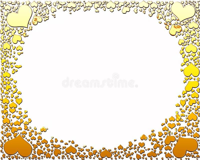 Download Golden candy hearts frame stock illustration. Image of heart - 7775024