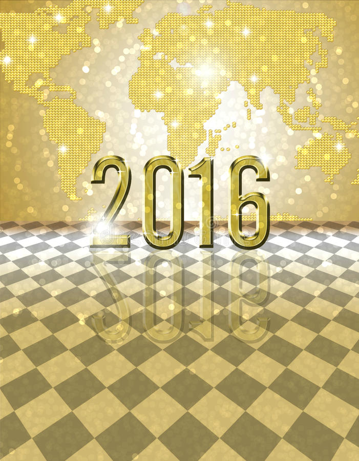 2016 golden card royalty free stock photo