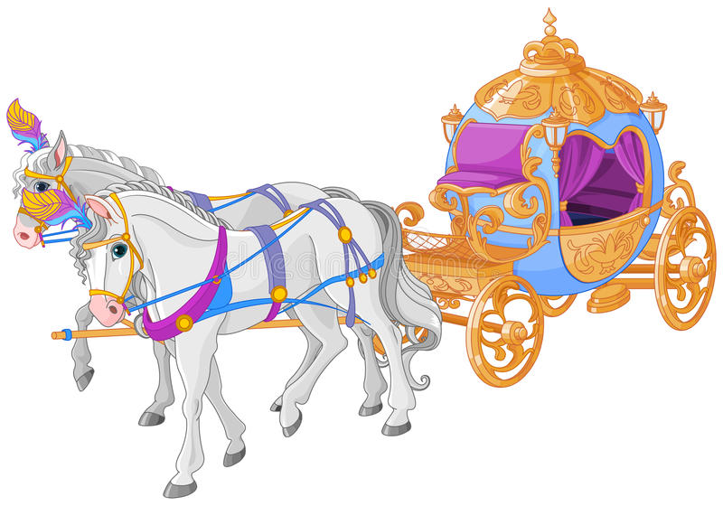 The Golden Carriage vector illustration