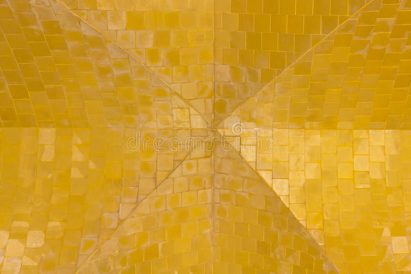 Golden ceiling pattern background.seamless tile. Golden ceiling pattern seamless tile background royalty free stock photography