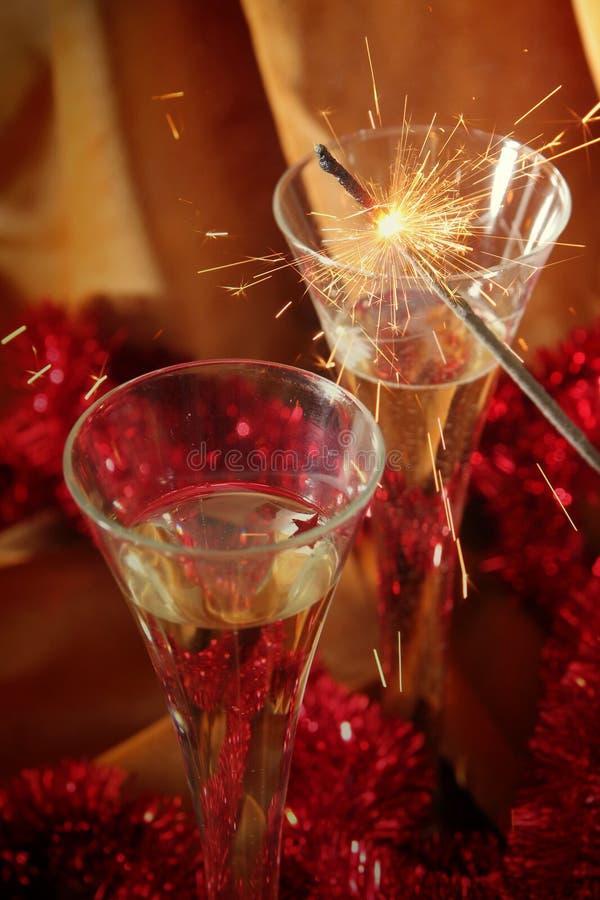 Golden celebration stock photography