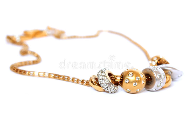 Golden chain royalty free stock photo