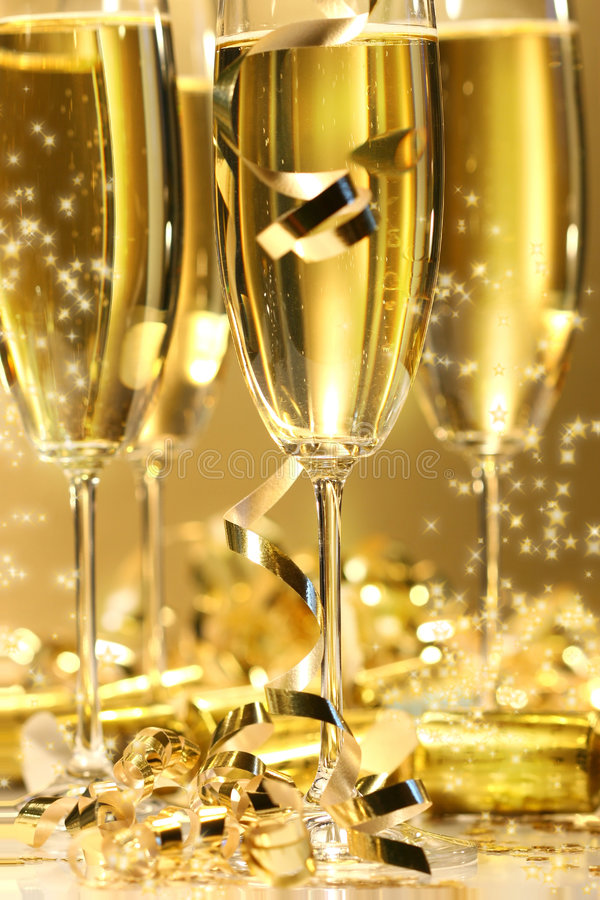 Download Golden champagne sparkle stock image. Image of toast, pour - 3754461