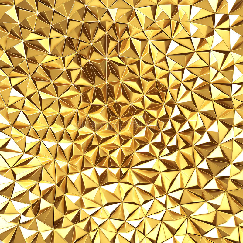 Golden chaotic poligons pattern background vector illustration