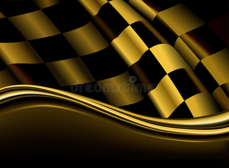 Download Golden checkered backdrop stock vector. Illustration of motocross - 20162884