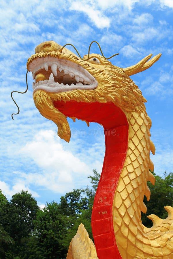Golden China Dragon Royalty Free Stock Photo