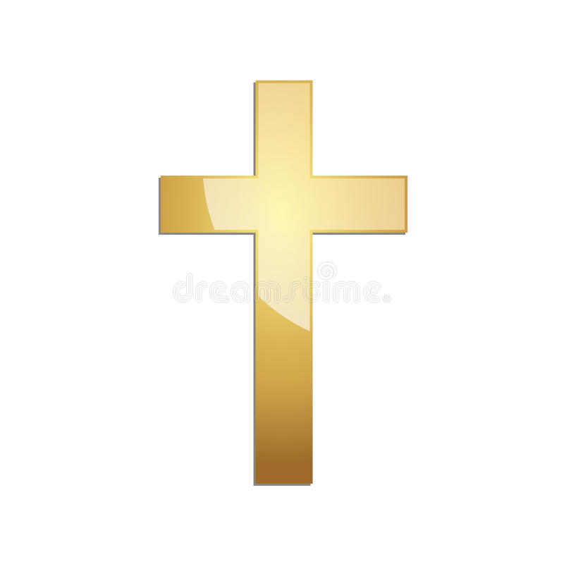 Free Golden Christian Cross. Vector Illustration. Royalty Free Stock Photography - 86595177