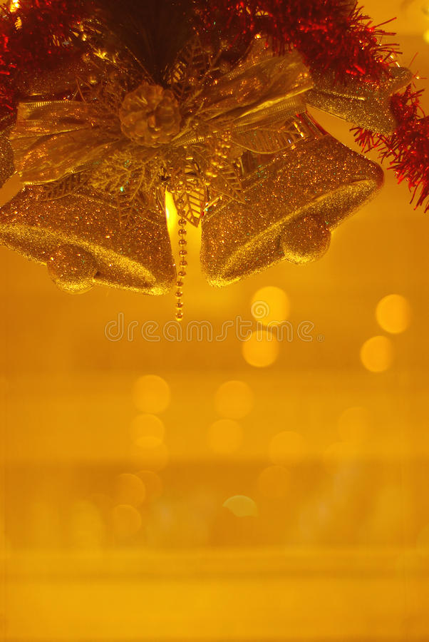 Golden Christmas royalty free stock photos
