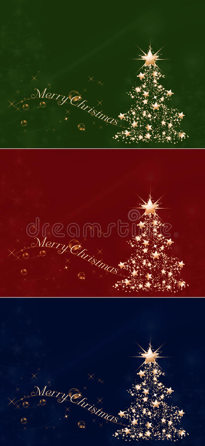 Golden Christmas vector illustration