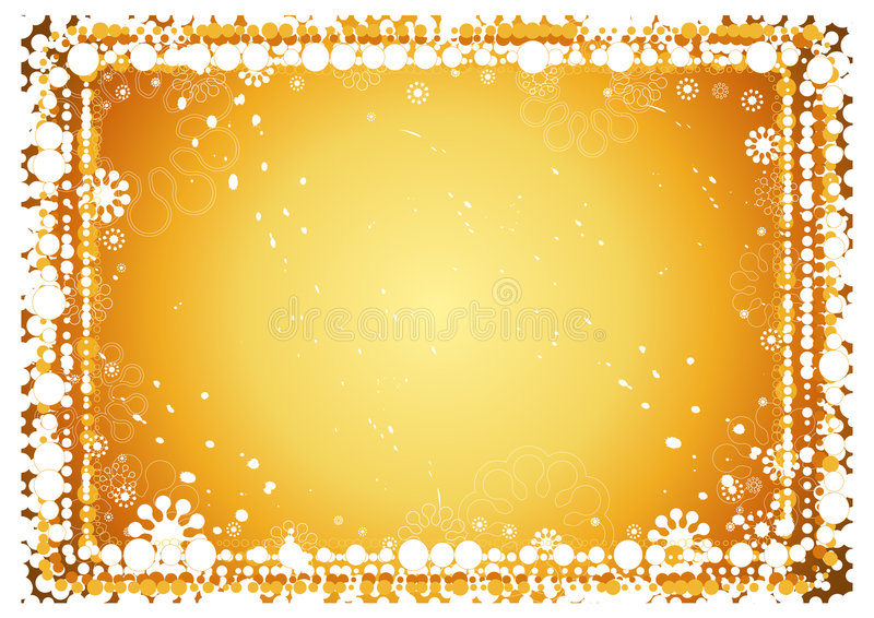 Golden christmas background stock illustration