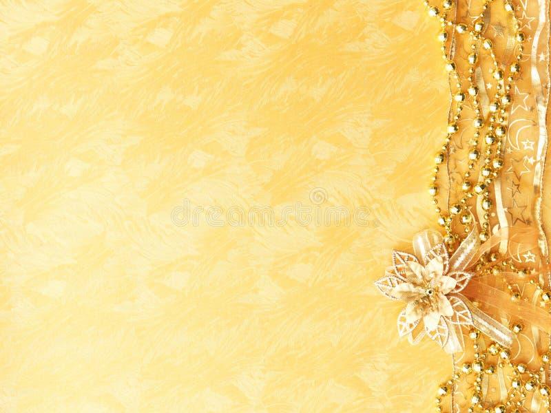 Golden Christmas background royalty free stock image