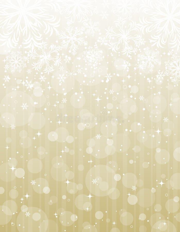 Golden christmas background stock illustration