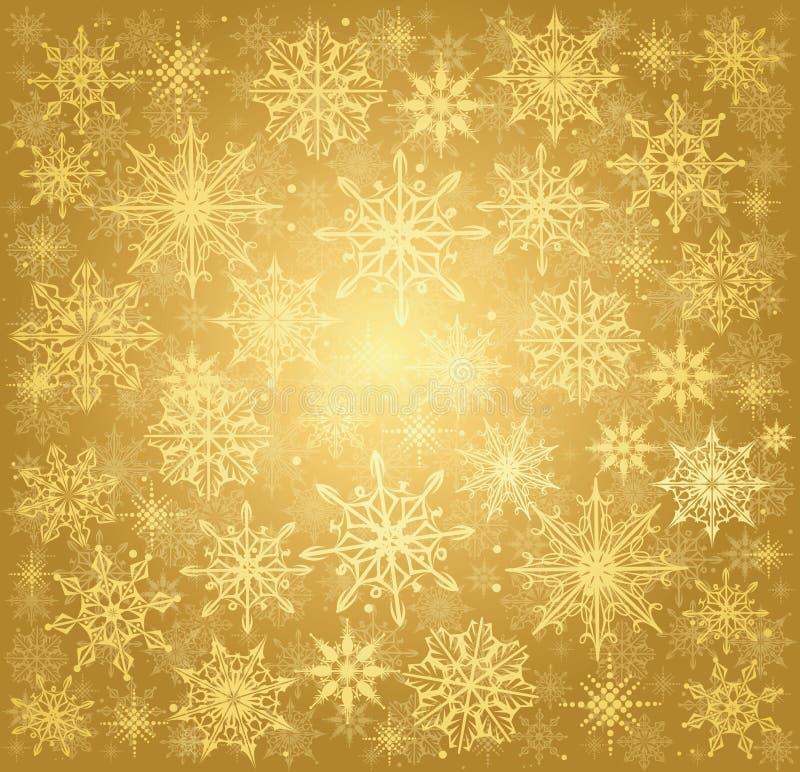 Golden Christmas background vector illustration