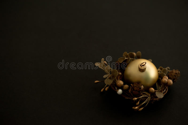 Golden Christmas Ball Royalty Free Stock Images