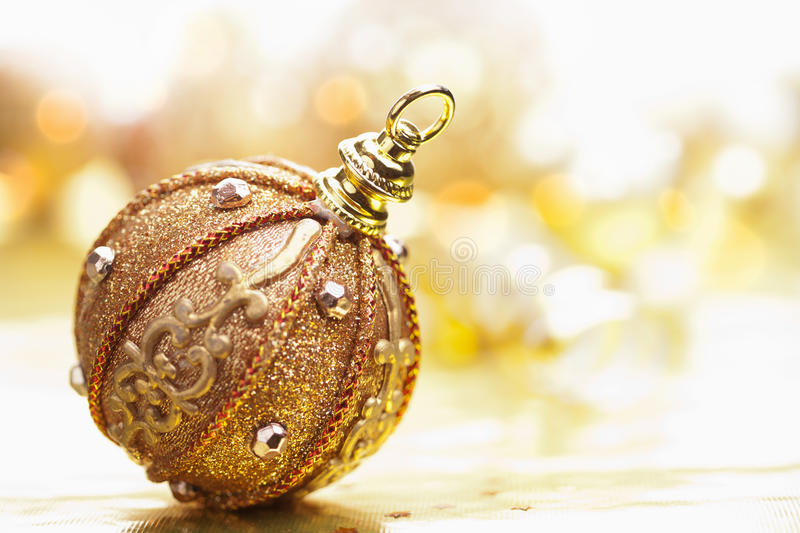 Golden christmas ball