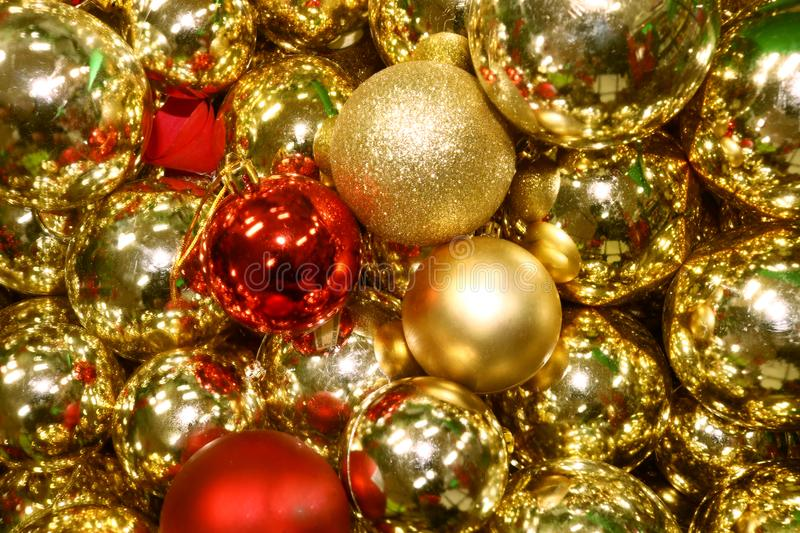 Golden Christmas Ball Background royalty free stock photo