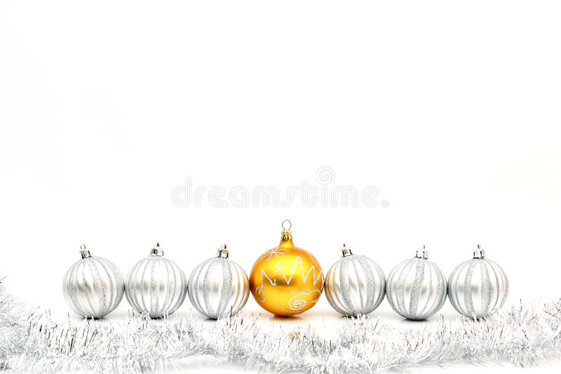 Download Golden Christmas Ball And Silver Balls Stock Photography - Image: 27646042
