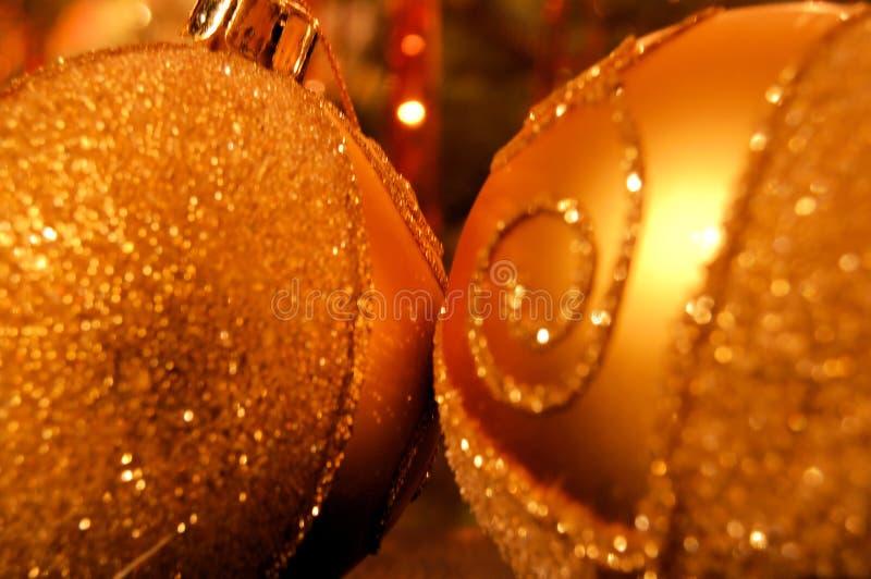 Download Golden Christmas Balls Closeup Stock Photo - Image: 3571032