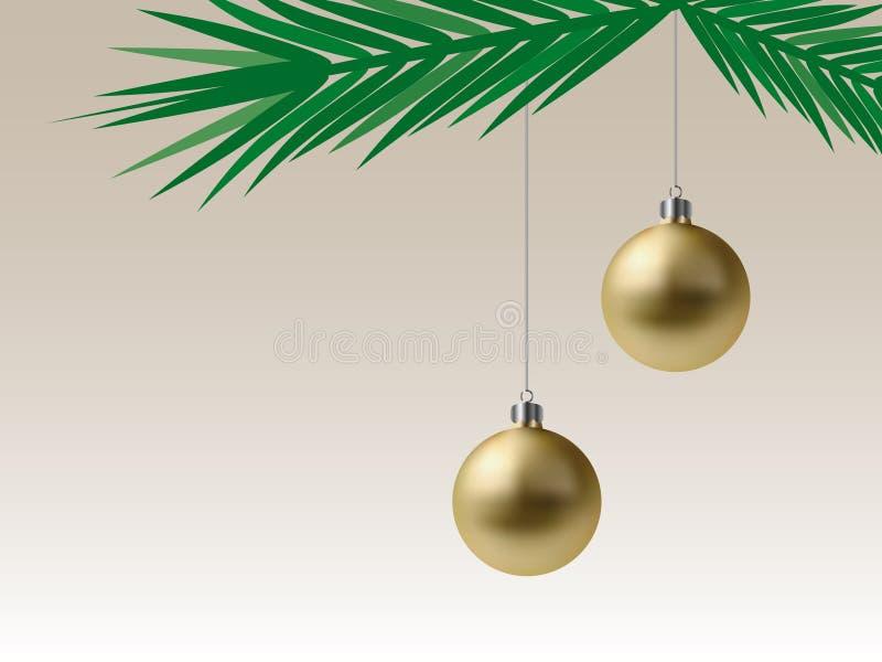 Download Golden Christmas Baubles (Vector) Stock Vector - Image: 7444216