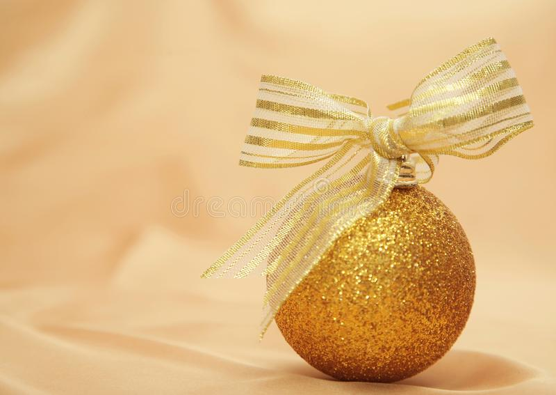 Golden Christmas decoration royalty free stock photo