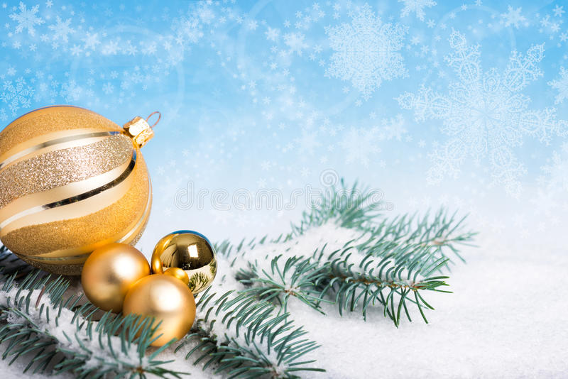 Download Golden Christmas Decorations Stock Photo - Image: 32519824