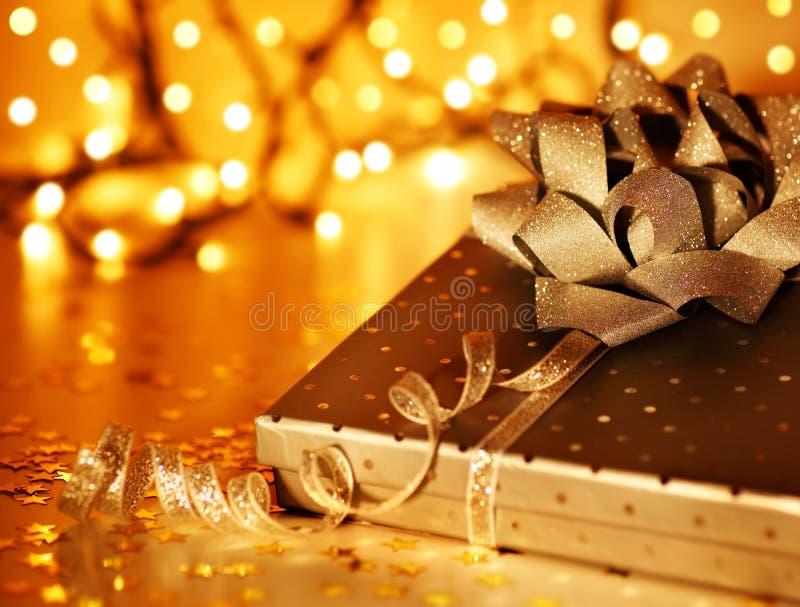 Download Golden Christmas gift stock photo. Image of merry, giftbox - 17286668