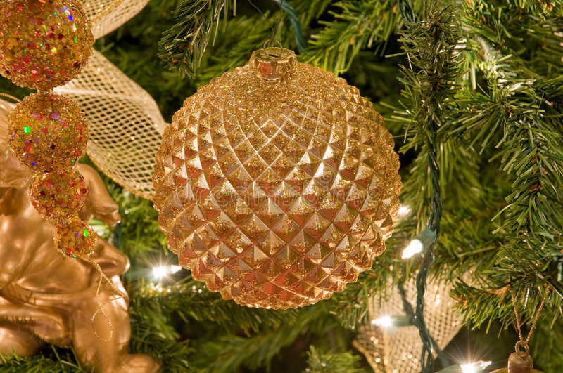 Download Golden Christmas Ornaments Stock Photography - Image: 7450022