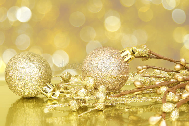 Download Golden Christmas scene stock photo. Image of items, card - 27651402