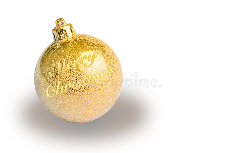 Golden christmas tree ball royalty free stock images