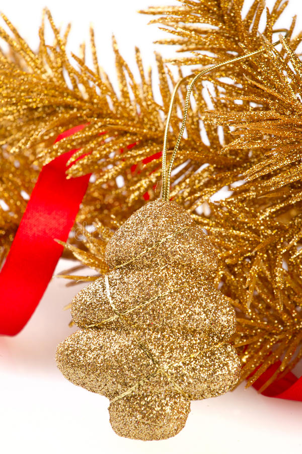 Golden christmas tree toy
