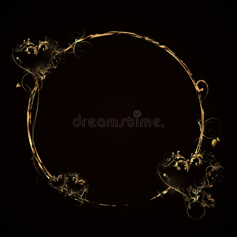 Golden circle royalty free stock photos