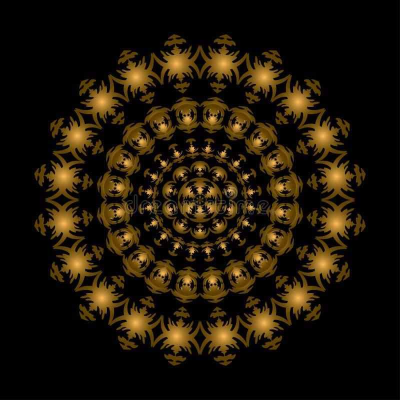 Free Golden Circle Ornament Royalty Free Stock Photos - 21831988