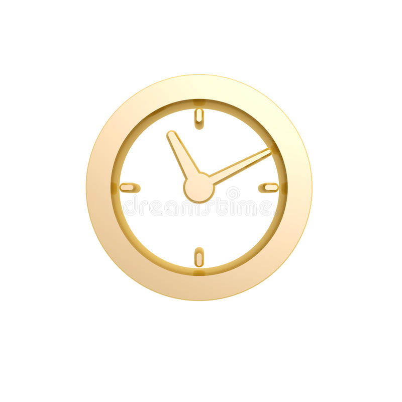 Golden Clock Symbol Stock Image