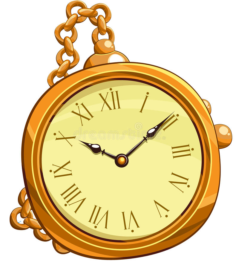 Golden clocks. Abstract golden clocks, this illustration may be useful as designer work stock illustration