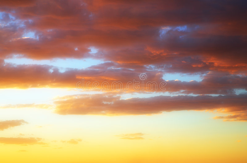 Download Golden clouds sky stock photo. Image of cloud, copy, dawn - 2289984